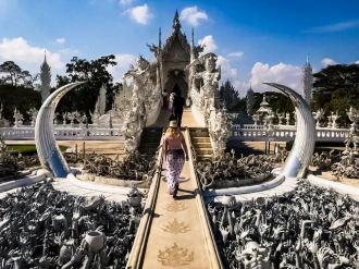 Wat Rong Khun entrance to temple