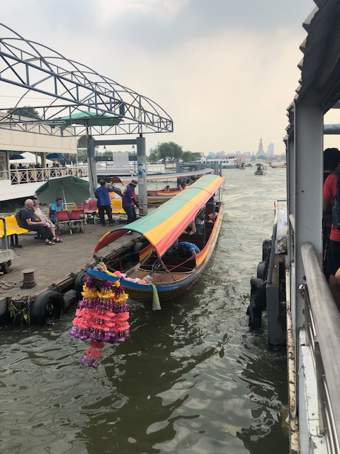 Waiting for the taxi boat. 20 Baht.