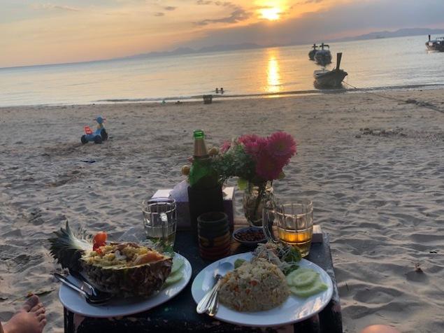 Dinner at Klong Muang Beach