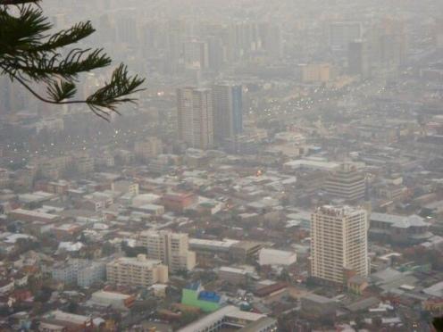 View over Santiago