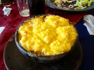 Choclo - typical chileanean dish made of corn