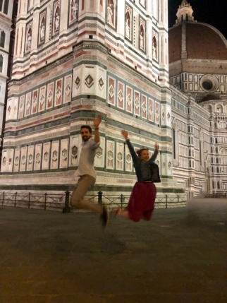 Me and a random Italian guy jumping in front of the Duomo :-D