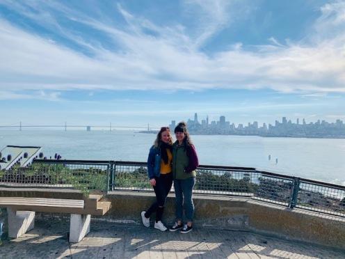 Alcatraz view on San Francisco