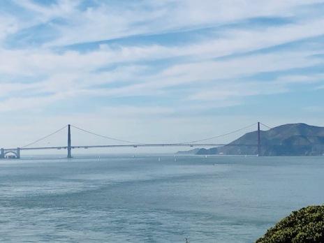 View from Alcatraz Golde Gate Bridge